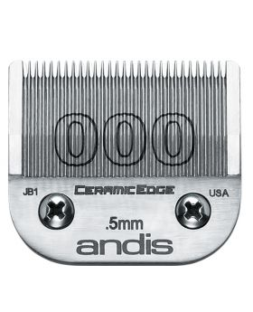 Andis Replacement CeramicEdge Detachable Clippers Blade Set, Size 000 #64480