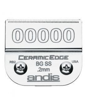 Andis Replacement CeramicEdge Detachable Clippers Blade Set, Size 00000 #64730