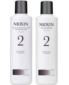Nioxin System 2 Cleanser Shampoo and Scalp Revitaliser Conditioner Duo 300ml
