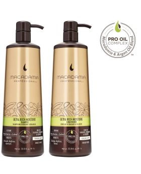 Macadamia Professional Ultra Rich Moisture Shampoo & Conditioner 1L Duo