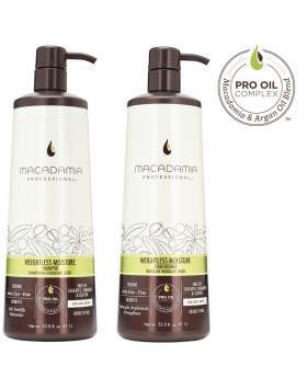 Macadamia Professional Weightless Moisture Shampoo & Conditioner 1L Duo