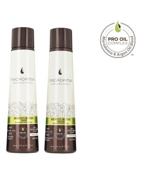 Macadamia Professional Weightless Moisture Shampoo & Conditioner 300ml Duo