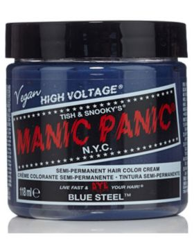 Manic Panic Classic Hair Dye Blue Steel Semi Permanent Vegan Colour 118ml