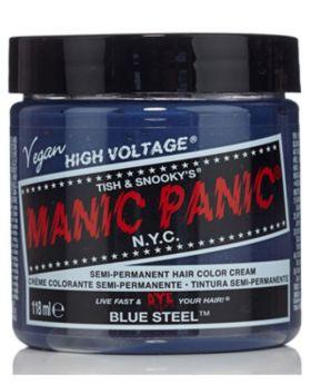 Manic Panic Classic Hair Dye Blue Steel Semi Permanent Vegan Colour 118ml