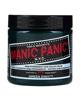 Manic Panic Classic Hair Dye Green Envy Semi Permanent Vegan Colour 118ml