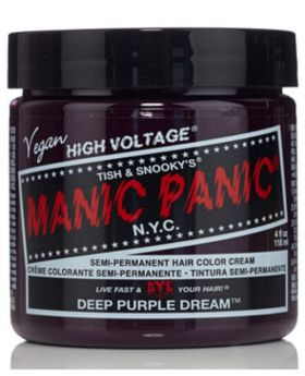 Manic Panic Classic Hair Dye Deep Purple Dream Semi Permanent Vegan Colour 118ml