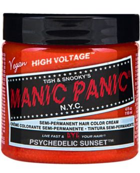 Manic Panic Classic Hair Dye Psychedelic Sunset Classic Orange Semi Permanent Vegan Colour 118ml