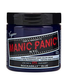 Manic Panic Classic Hair Dye Rockabilly Blue Semi Permanent Vegan Colour 118ml