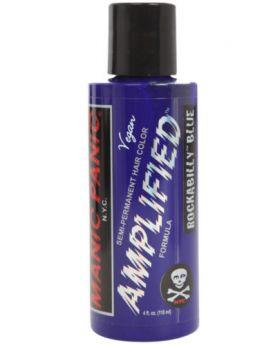 Manic Panic Amplified Hair Dye Rockabilly Blue Semi Permanent Vegan Colour 118ml