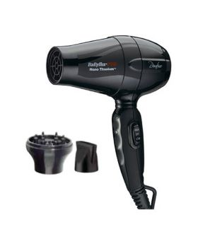BaByliss Pro Bambino Travel Size Nano Titanium Hair Dryer With 2 Nozzles