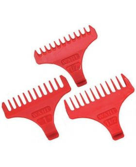 Wahl Attachment Combs For Detailer T-Wide and Cordless Detailer Trimmer (1/2, 1, 1.1/2)