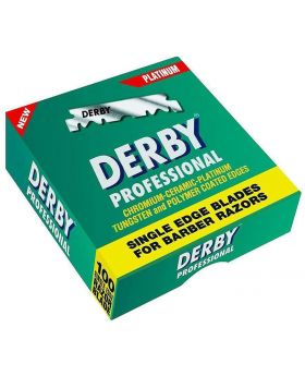 Derby Platinum Professional Single Edge Razor Blades Pack Of 100