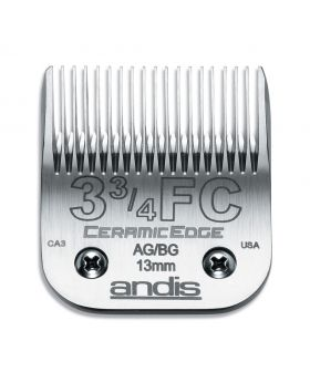 Andis Replacement CeramicEdge Detachable Clippers Blade Set, Size 3 3/4FC #64435