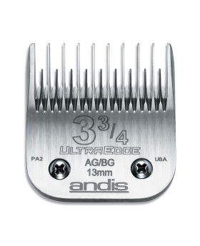 Andis Replacement UltraEdge Detachable Clippers Blade Set, Size 3 3/4 Skip Tooth #64133