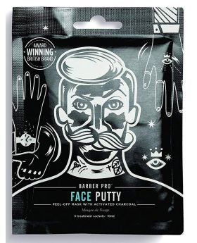 Barber Pro Face Putty Black Peel Off Mask (3x7g Pouch)