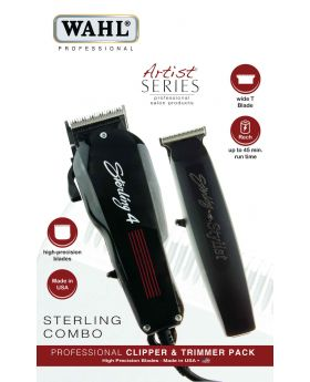 Wahl Combo Sterling 4 & Stylist T Professional Hair Clipper/Trimmer WA8700-612