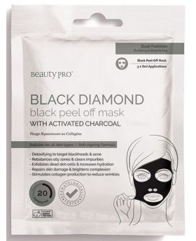 Beauty Pro Black Diamond Black Peel Off Mask (3x7ml Pouch)
