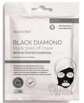 Beauty Pro Black Diamond Black Peel Off Mask (3x7ml Pouch)