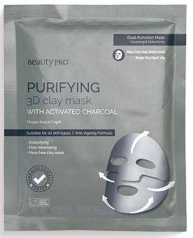 Beauty Pro Purifying 3D Clay Mask with Activated Charcoal