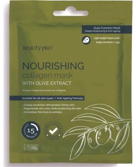 Beauty Pro Nourishing Collagen Sheet Mask with Olive extract