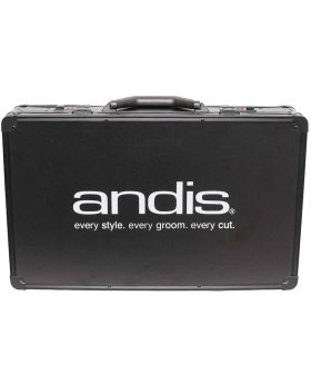 Andis Black Barber Metal Tool Box Storage Travel Carry Case