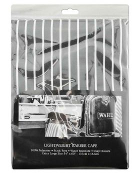 Wahl Lightweight Polyester Haircutting Salon Barber Cape Grey