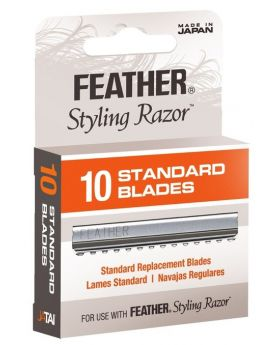 Feather Standard Styling Blades Pack of 10