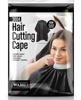 Wahl 100% Microfiber & Waterproof Haircutting Salon Barber Cape Black