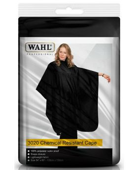 Wahl Chemical Resistant Cape Barber Salon Hair Cape Water Proof 3020 (Black)