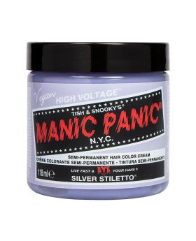 Manic Panic Classic Hair Dye Silver Stiletto Permanent Vegan Colour 118ml