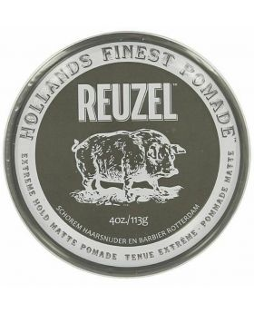 Reuzel Extreme Hold Matte Hair Pomade – No shine – Water soluble-113g