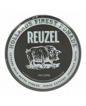 Reuzel Extreme Hold Matte Hair Pomade – No shine – Water soluble-340g