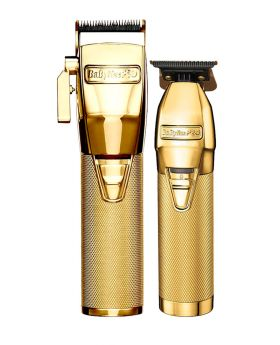 BaByliss Pro Combo GoldFX Skeleton Barber Hair Clipper and Trimmer