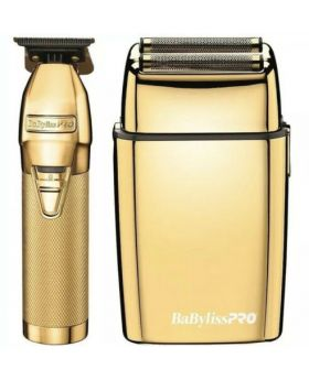 BaByliss Pro Combo GoldFX Skeleton Hair Trimmer & FoilFX02 Shaver