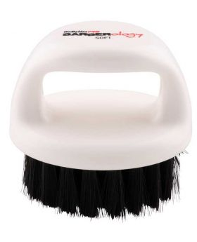 Babyliss Pro Barberology Knuckle Bristle Brush For Fade/Scalp White