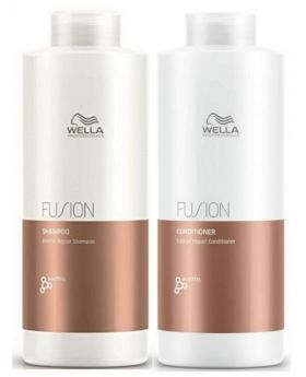 Wella Professional Fusion Intense Shampoo and Conditioner 1 Litre Duo
