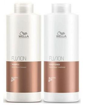 Wella Professional Fusion Intense Shampoo and Conditioner 1 Litre Duo