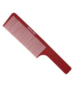 BaByliss Pro Barberology Barber Flat Hair Clipper Cutting Comb Red