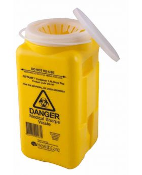 Sharps Disposal Container With Resealable Top 1.4L AS4031