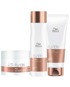 Wella Professional Fusion Intense Repair Trio Pack Shampoo Conditioner Treatment