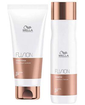 Wella Professional Fusion Intense Repair Shampoo 250ml Conditioner 200ml Duo
