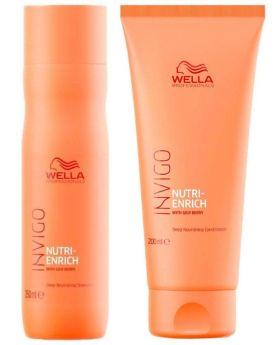 Wella Professionals Invigo Nutri Enrich Shampoo 250ml Conditioner 200ml Duo