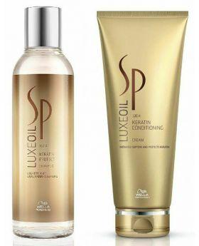 Wella SP Luxe Oil Keratin Shampoo 200ml & Conditioning 200ml Cream Duo