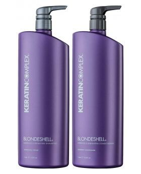 Keratin Complex Blondeshell Shampoo 1000ml & Conditioner 1000ml Duo