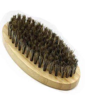 Military Mixed Nylon & Boar Bristle Hair & Beard Brush