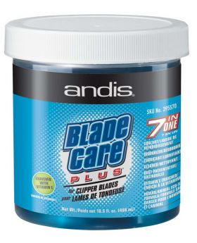 Andis Blade Care Plus 7in1 Dip Jar Coolant Cleanser Lubrication 488ml