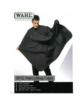Wahl Polyester Haircutting Salon Barber Cape Black WP3012NE