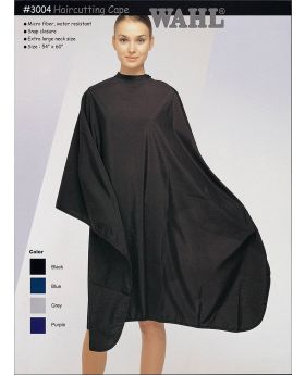 Wahl Microfiber & Water Resistant Salon Cape 3004 (Black)