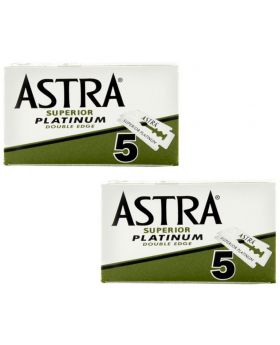10x ASTRA Superior Platinum Double Edge Razor Blades