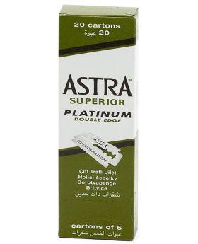 100x ASTRA Superior Platinum Double Edge Razor Blades